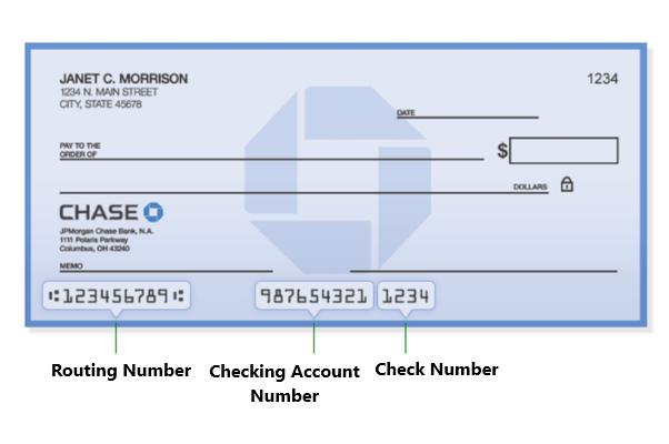 ¿Cuál es el número de ruta (ABA) del Chase bank?