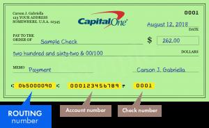 ¿Cuál es el número de ruta de Capital One?