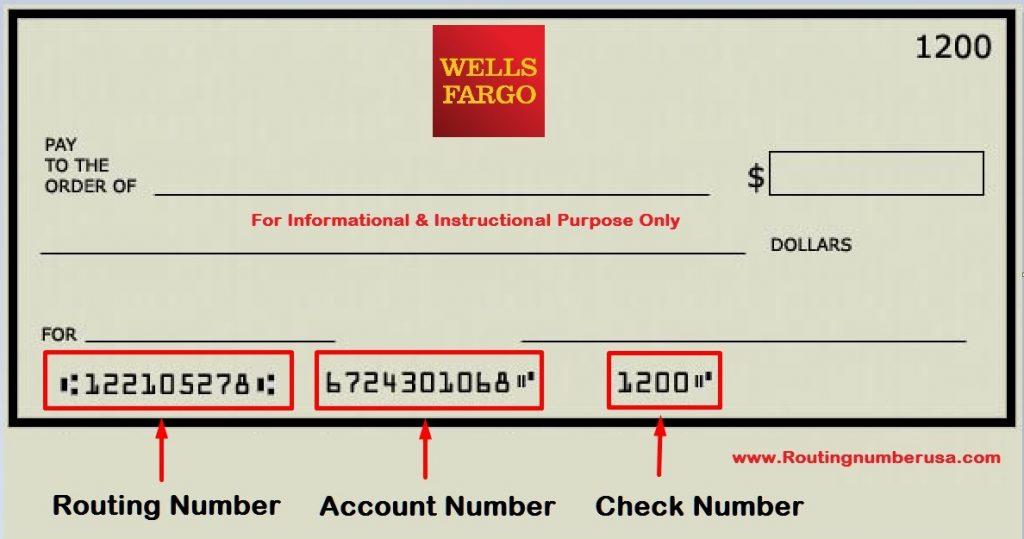 ¿Cuál es el routing number de Wells Fargo?