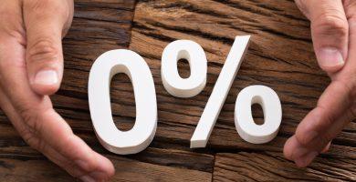 ¿Qué significa 0 % APR?