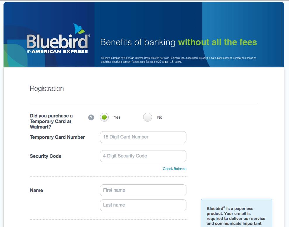 activar tarjeta Bluebird