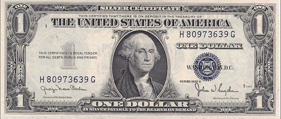 ¿Qué son los billetes de 1 dólar con certificado de plata?
