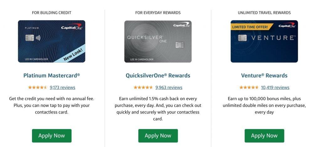 Solicitar tarjeta de crédito Capital One