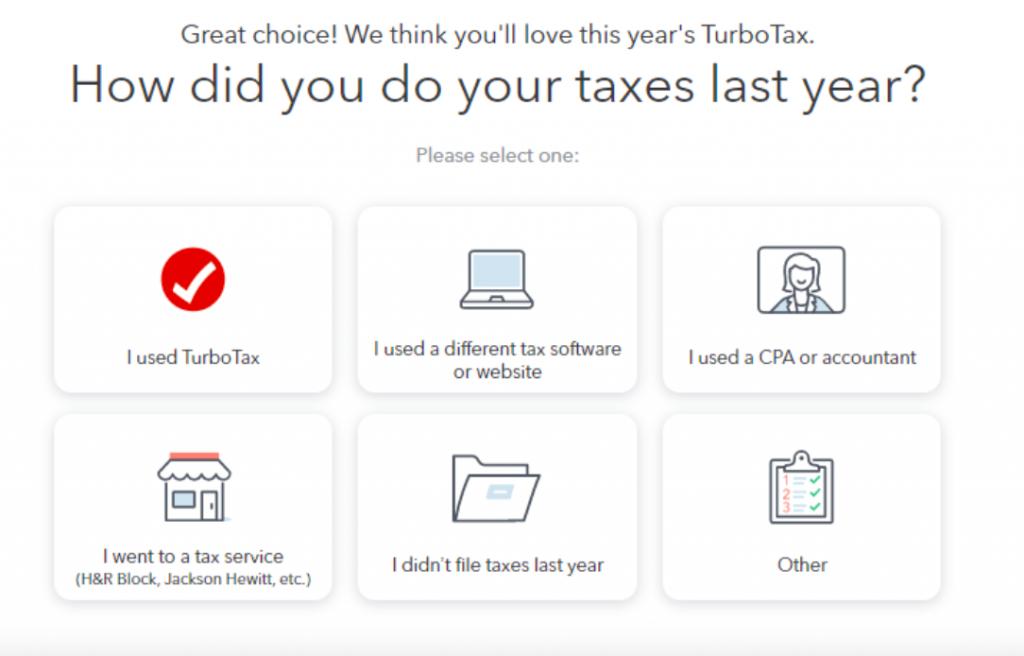 Pantalla de declaración del paso 1 de TurboTax