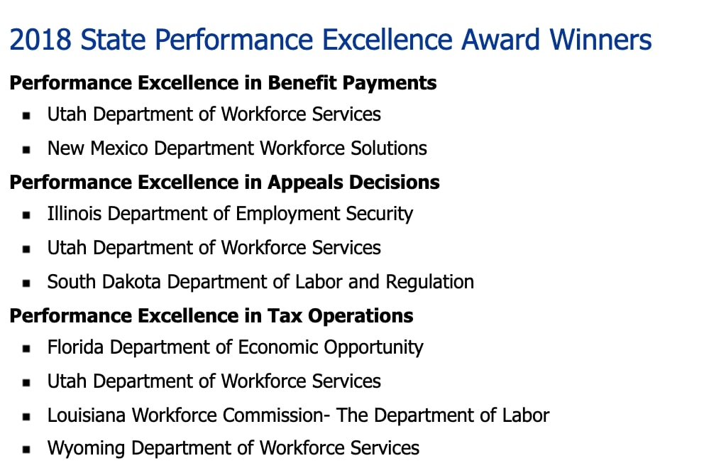 State Performance Excellence Awards