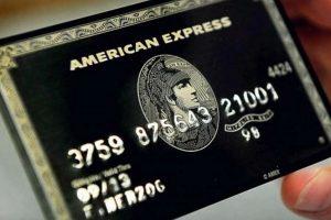 Tarjeta Centurion de American Express