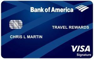 Tarjeta Travel Rewards de Bank of America
