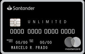 Tarjeta negra ilimitada de Santander