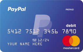 Tarjeta prepagada Paypal Mastercard