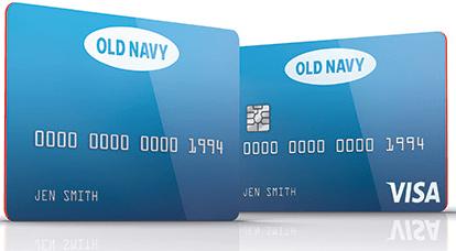 Tarjetas de crédito Old Navy