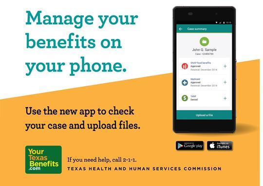 Aplicación Tarjeta EBT Texas