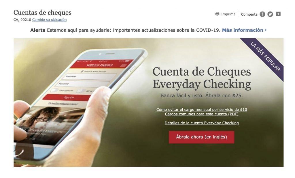 Cómo abrir una cuenta en Wells Fargo online en español
