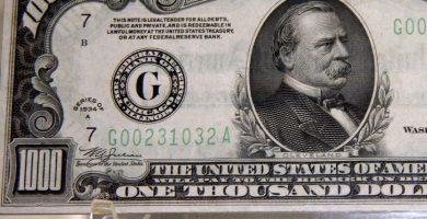 Existe el billete de 1000 dólares