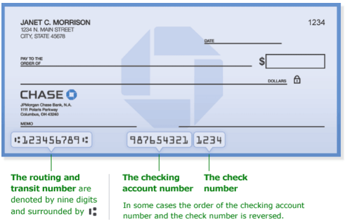 como llenar un cheque de chase