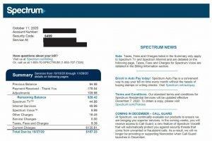 Pagar bill de Spectrum