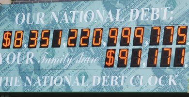 Deuda nacional de Estados Unidos por año
