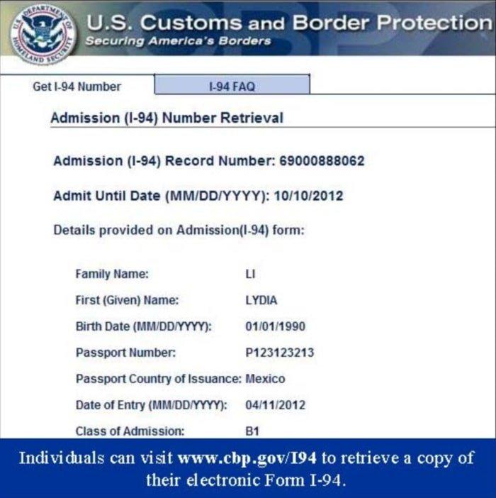 Cómo descargar el formulario I-94